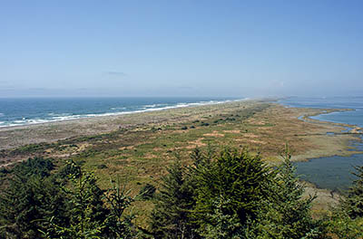 CA: North Coast Region, Humboldt County, Humboldt Bay Area, Humbolt Bay Area, Table Bluff, View from Table Bluff County Park northward across South Jetty. [Ask for #271.100.]