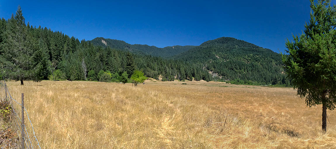 OR: Curry County, Coast Range, Rogue River Area, Foster Bar Area. Wide meadows beside the Rogue River [Ask for #274.765.]